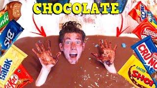 ENCHI A BANHEIRA COM CHOCOLATE!