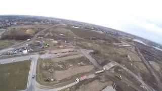 Budowa S7 - Wschodniej Obwodnicy Krakowa z lotu ptaka