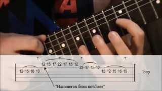 Lick #41 - Michael Romeo Style Tapping E Minor