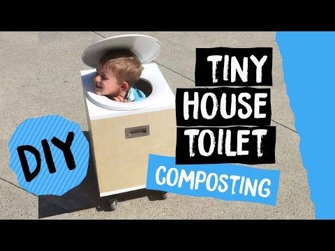 DIY Tiny House Toilet on Wheels | Composting Bucket Toilet