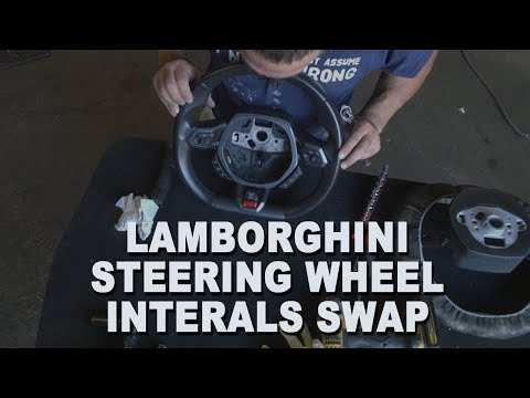 How to Remove and Replace Lamborghini Steering Wheel Components – 2016 Lamborghini Huracan Spyder