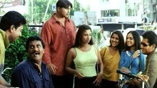 Holi Comedy Scene - Sunil Shows As Raj As Begging By His Talent - Uday Kiran, Sunil - HD