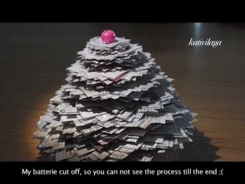 Paper christmas tree sapin de no l en papier youtube - Comment faire un sapin en papier ...