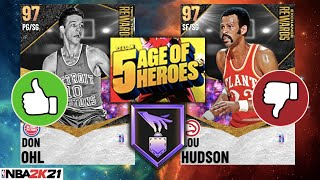 NEW SEASON 5: AGE OF HEROES REWARD CARDS! WHICH PLAYERS ARE WORTH GETTING IN NBA 2K21 MyTEAM?