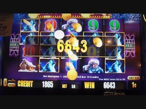 Timberwolf Legends BIG WIN LINE HITS Timber Wolf Deluxe Slot Machine Wins - 동영상