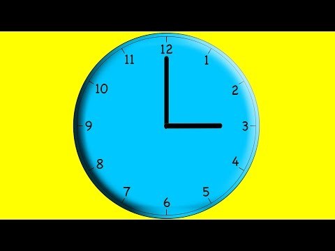 Learning to tell time 1 o'clock to 12 o'clock Counting Guessing Time on Clock Kids Children