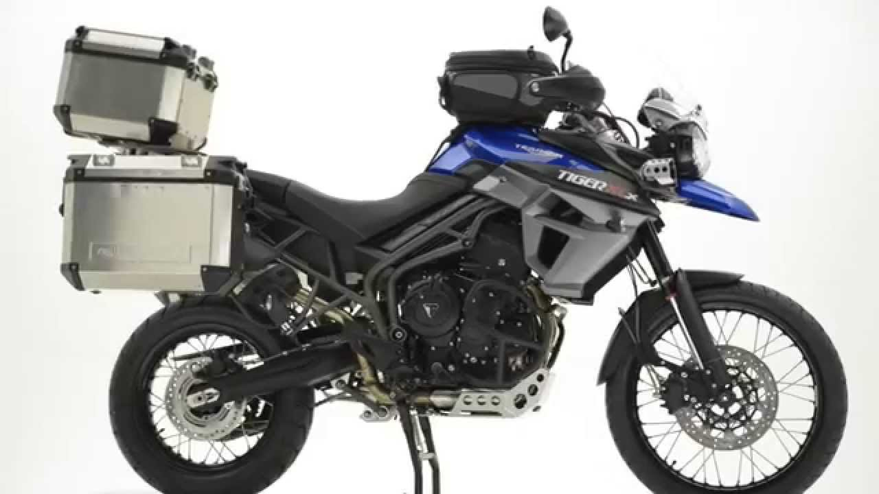 triumph new tiger accessories expedition panniers - youtube