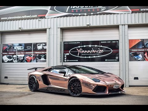 Yianni's Lambo wrapped CHROME ROSE GOLD!!