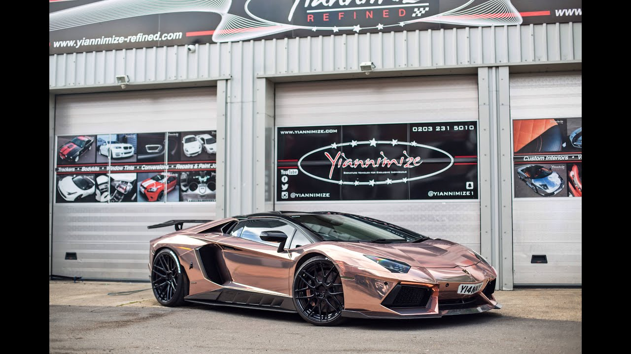 Yianni S Lambo Wrapped Chrome Rose Gold Youtube