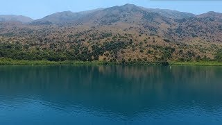 Озеро Курнас на острове Крит Греция. Kournas lake Crete. Курнас обзор. Озеро Курнос отзыв Крит отдых