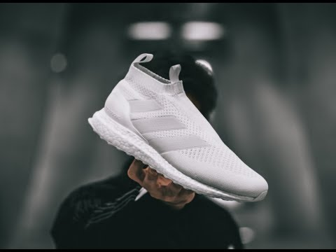 2e5815a03 ADIDAS ACE16 PURECONTROL ULTRA BOOST US10 BY1600 TRIPLE WHITE CREAM BLACK  VOLT