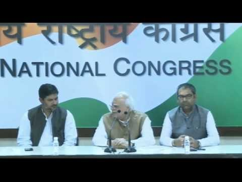AICC Press Briefing By Shri Kapil Sibal at Congress HQ. November 25, 2016
