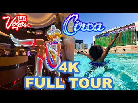 CIRCA Las Vegas GRAND OPENING Full Guided Tour + Our Circa STADIUM SWIM Pool Experience in 4K