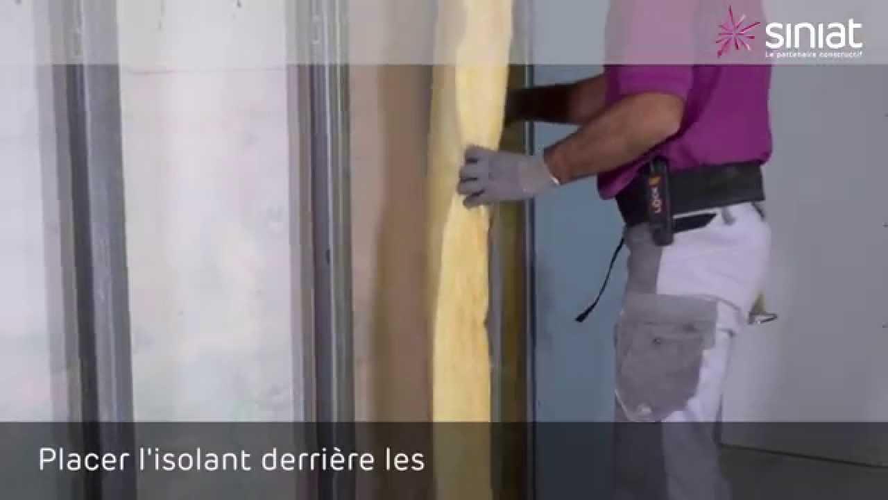 doubler un mur humide comment choisir un isolant pour les murs with doubler un mur humide. Black Bedroom Furniture Sets. Home Design Ideas