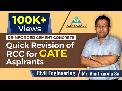Quick Revision of RCC for GATE 2019 Aspirants | Reinforced Cement Concrete