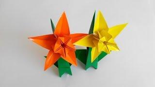 Нарцисс оригами, 5 лепестков, Narcis origami, 5 petals (František Grebeníček)