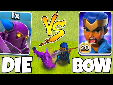 P.E.K.K.A  Vs. Royal Champion!  | Clash Of Clans | Now YOU Bow !!