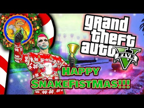  [LIVE] HAPPY SNAKEFISTMAS 2017!!!!   GTA 5 Holiday Special   GTA V ONLINE PC Multiplayer