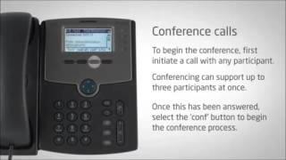 Cisco SPA504G Training Part 8 - Conference calls