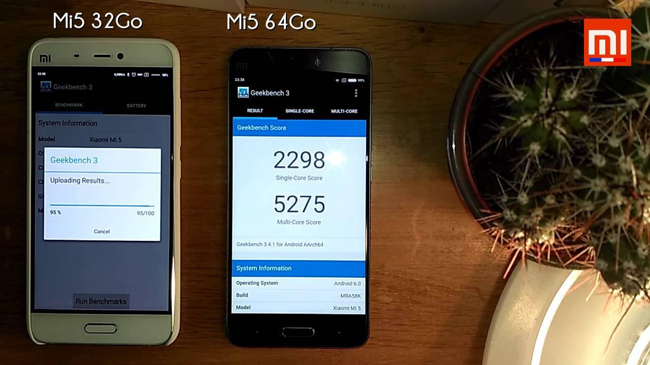 Test Xiaomi Mi5 32GB Vs 64GB MIUI 7 Battery Benchmark Speed