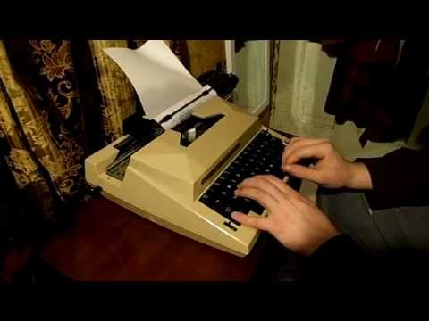 1980 Sears Scholar Electric assist typewriter.