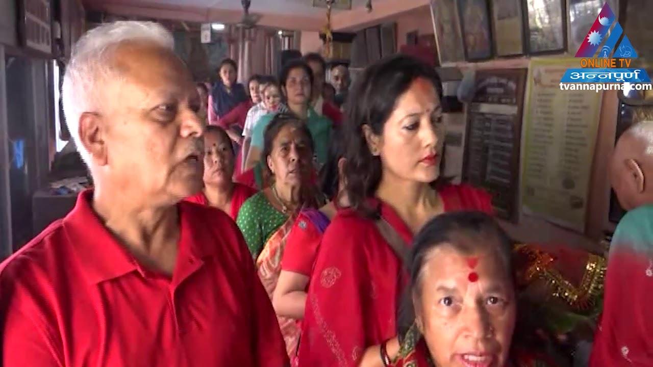On the sixth day of Navratri under big decades, worshiping the Katyayni Mata