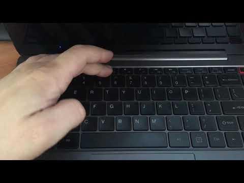 Включение подсветки клавиатуры на Chuwi AeroBook