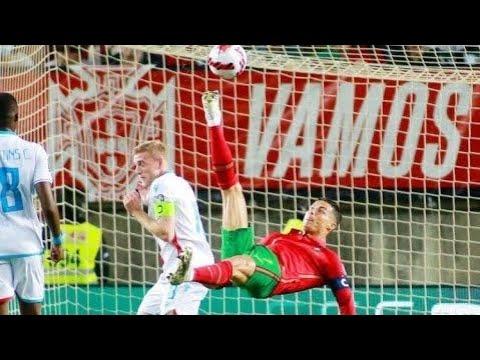 Cristiano Ronaldo Misses Amazing Bicycle kick GOAL, Portugal vs Luxembourg thumbnail