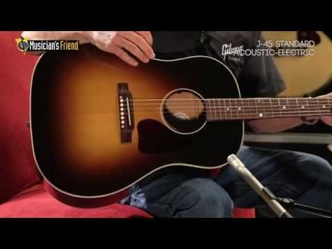 Gibson J-45 Standard Acoustic-Electric Guitar, demo'd by Don Ruffatto