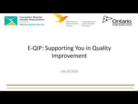 E-QIP: Supporting you for Quality Improvement