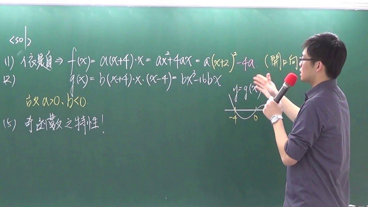 [高中數學][104數甲][多選06][多項式函數圖形][威全老師主講][周杰數學] - YouTube