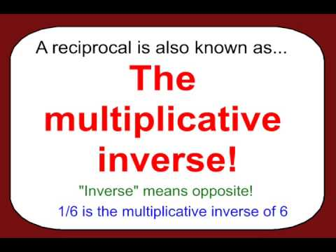 The Inverse Property Of Multiplication