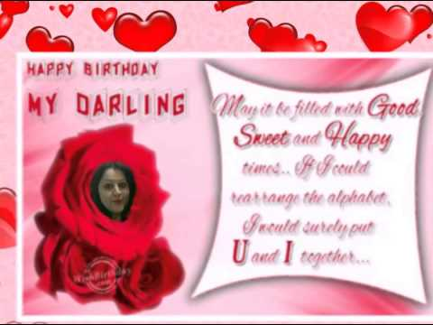 Happy birthday video for wife with her name and pictures youtube happy birthday video for wife with her name and pictures m4hsunfo
