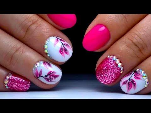 Дизайн на коротких ногтях простой