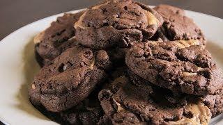 طريقة عمل كوكيز شوكولاته بزبدة الفول السوداني  | مع فاطمة