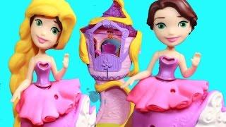 Princess Makeover TOILET PAPER Prank Disney Rapunzel's Tower Little Kingdom Princess Hair Make Over