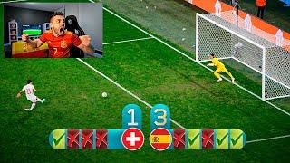 REACCIONANDO A LOS PENALTIS !!! SUIZA 1-1 ESPAÑA
