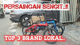 Top 3 sepeda lipat Terlaris | ELEMENT ECOSMO  VS UNITED AIGLE VS PACIFIC NORIS