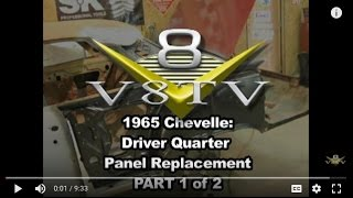 1965 Chevelle Quarter Panel Install Pt. 1 V8TV How-To Video