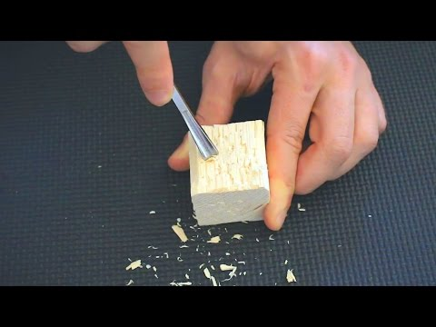 ASMR Splintery Wood Carving & Cutting ✦ Destroying a Wooden Cube