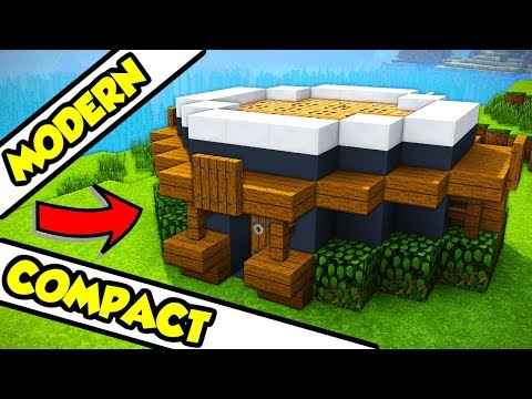 Minecraft Modern Compact Survival House Tutorial (How To Build)