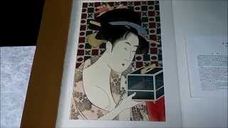 Japanese Art UKIYOE UTAMARO(1753-1806) Woodcut 24 sheets No.10 浮世絵 歌麿 木版画 24枚