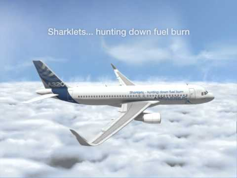 Sharklets cutting into Airbus A320 fuel burn