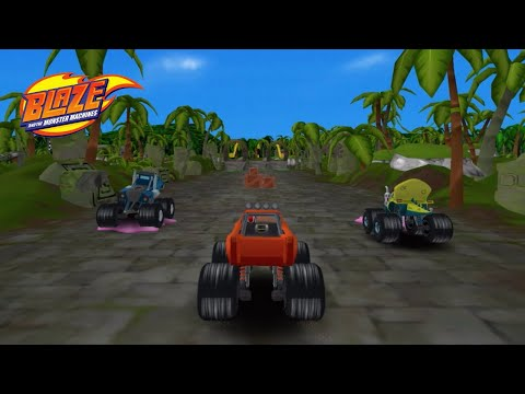 Blaze and the Monster Machines - Racing Game 🔥 Racing against ZEG, TOP OF THE WORLD Map, Levels 9-15  