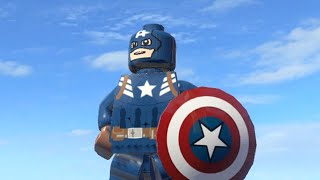 LEGO Marvel Superheroes - WINTER SOLDIER CAPTAIN AMERICA FREE ROAM GAMEPLAY (MOD SHOWCASE)