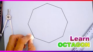 How to draw Octagon with compass and ruler
