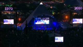 Gorillaz - Orchestral Intro (Live @ Glastonbury 2010)