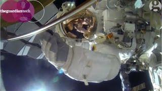 Nasa astronaut films spacewalk with GoPro