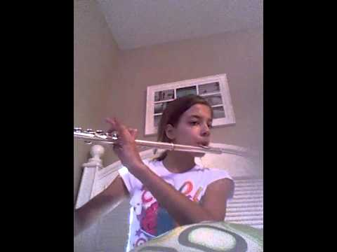Happy birthday flute with notes