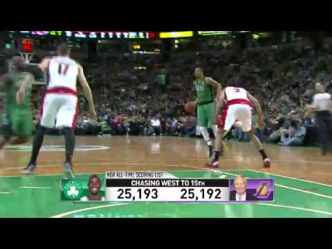 Kevin Garnett's Scoring Milestone | Celtics Vs Raptors | March 13, 2013